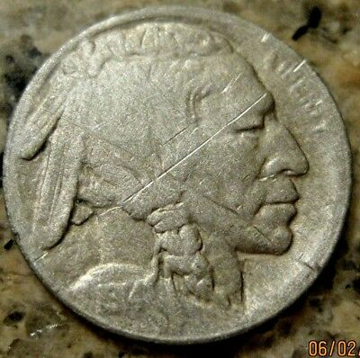1914 D  BUFFALO NICKEL VF Details RB2066 49 cent Free Shipping on 3 or more