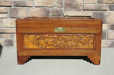 Antique Chinese Samurai Chest with Camphor Lining
