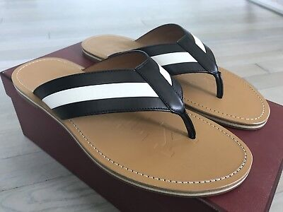 902ec7f56ccf 500  Bally Amilton Khaki and Black Leather Sandals size US 12 Made in Italy