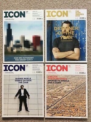 4 x Icon Magazines, International Design, Architecture + Culture, Issues 138-141