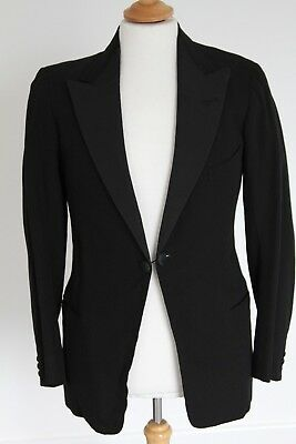 Gents Vintage Bespoke Evening Jacket - Chest 37/38""