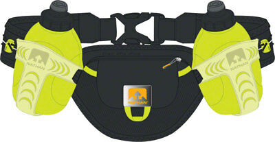 NEW Nathan Trail Mix Insulated Hydration Belt two 10oz Bottles One Size Black