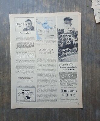 1959 print ad-Mission Inn, Riverside-$26.75 weekend with golf-meals-swimming-+