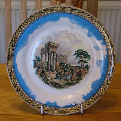 Prattware Plate : Roman Ruins : No. 420 : Moderate Condition