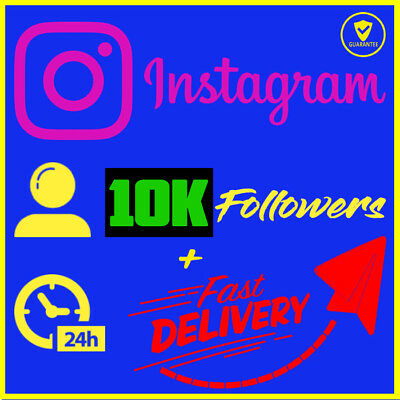 10K Instagram Followêrs 🔥 Safe, Guarranteed and Super Fast Delivery - NEW!!