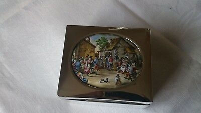 George Nathan & Ridley Hayes 1903 silver and enamel box (385 gr)