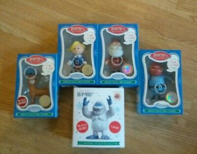 Rudolph The Red Nosed Reindeer Talking Figurines. Set of 5. 50th Anniversary New