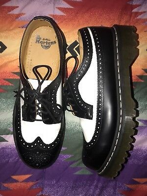DOC DR MARTENS Shoes Mens 11 Wingtip Brogue Creeper Ankle Oxford Laced England