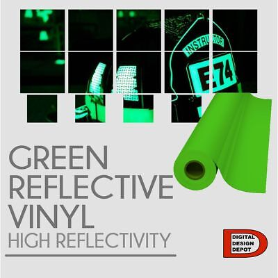 "12""x 5 Ft High Reflective Vinyl Adhesive Sign Plotter Green Reflective"