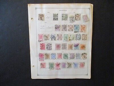 Austria Stamp lot of 12 album pages unchecked