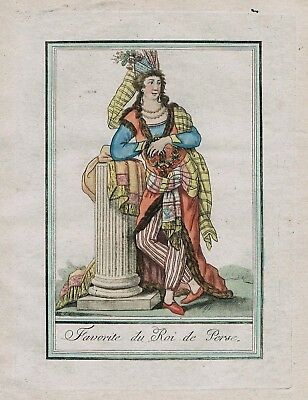 1780 - Persia Persian Turkey Iran costume engraving antique print