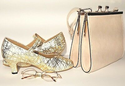 Women's Shoes for Special Occasion, with matching bag and eyeglass frame
