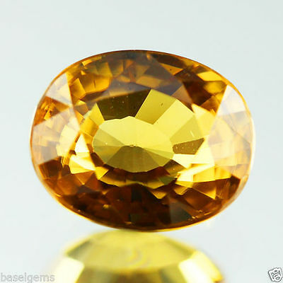 9.785 Cts EXCELLENT DIAMOND LUSTER NAT YELLOW ZIRCON TANZANIA OVAL VVS 15-7-41