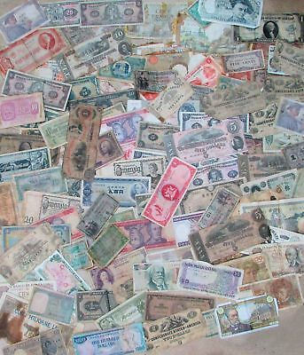 Massive Mix Way Over 100 Notes International & Usa Currency Bank Note Lot