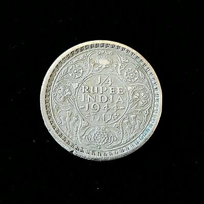 1944 India-british 1/4 Rupee .500 Silver coin