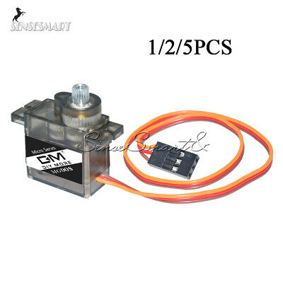 1/2/5PCS MG90S 9g Servo Micro Metal Gear for RC Plane Helicopter Boat Car