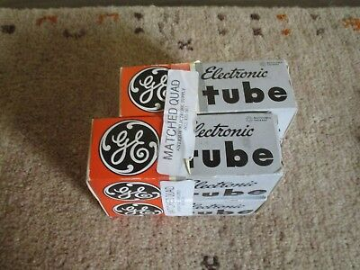 ge general    electric match quad  6550a  tube  NOS