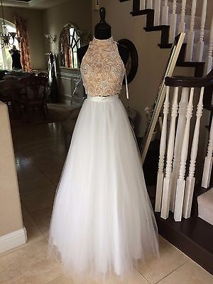 7c579a95926b  473 Nwt Two Piece Terani Prom pageant wedding Dress gown  1611P1028 Size