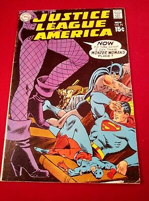 JUSTICE LEAGUE of AMERICA #75 Black Canary Joins. 2nd GREEN ARROW COSTUME. WP