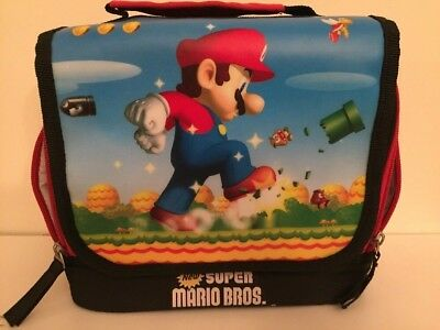 Nintendo - Two Super Mario Bros. Canvas Bags - Insulated Lunch Box - Carry Cases