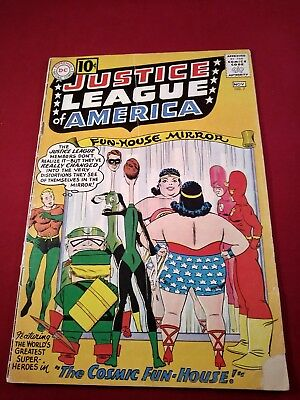 Justice League Of America #7 3.5 Un-Restored Last 10 Cents White Pages!!!!!!!!!!