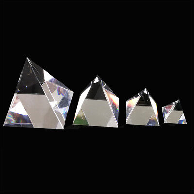 40/60/80/100mm Clear Optical Glass Pyramid Crystal Prism Optics Decoration