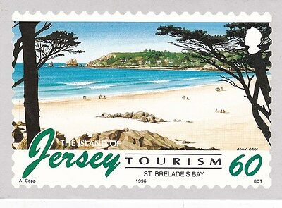 Jersey Tourism stamps Postcard Unused VGC
