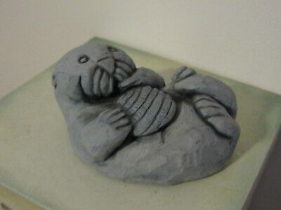 Hand Carved Sea Otter /Glacial Ice Age  MOUNTAIN/ Alaska