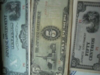 Japanese Occupation Peso notes