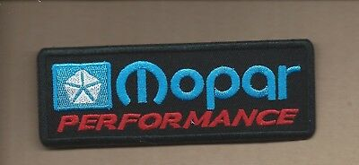 New 1 5/8 X 4 3/8 Inch Dodge Mopar Performance Iron On Patch Free Shipping