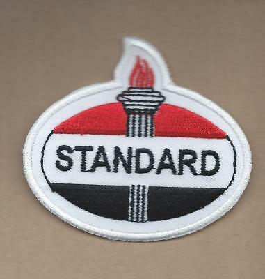 New 2 3/4 X 3 Inch Standard Oil Iron On Patch Free Shipping