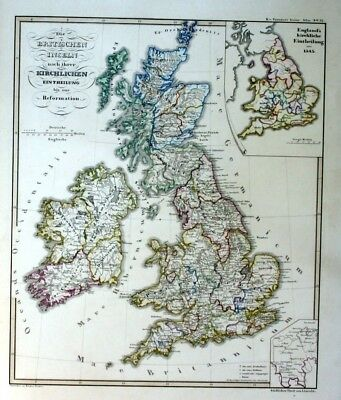 1850 - Great Britain Großbritannien Ireland Karte