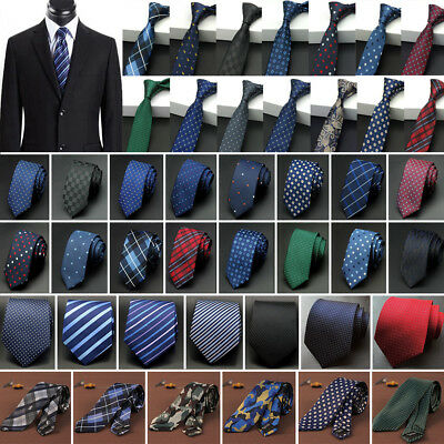 Men's Tie Narrow Business Necktie Wedding Skinny Slim Jacquard Woven Fashion Tie