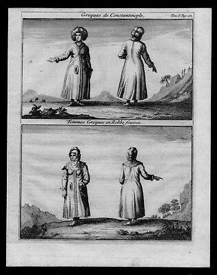 1718 - Istanbul Constantinople Greece Turkey costumes Kupferstich engraving