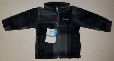 Columbia Baby Toddler Boys Fleece Jacket Lightweight Zing Iii Block Print New!