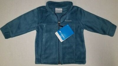 Columbia Baby Boys Lightweight Fleece Jacket Steens Mt. Ii Teal Sz 6-12 Mo. New