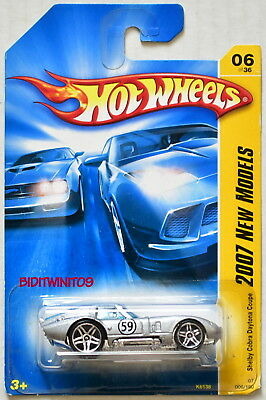 Hot Wheels 2007 New Models Shelby Cobra Daytona Coupe Silver
