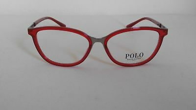 babadfdc27b6 New POLO Ralph Lauren Eyeglasses PH 1166 9314 RED Authentic Frames Rx 53-15-
