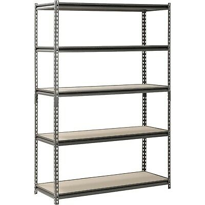 "Muscle Rack 5 Shelf Steel Shelving 72""H x 48""W x 18""D Heavy Duty Adjustable New"