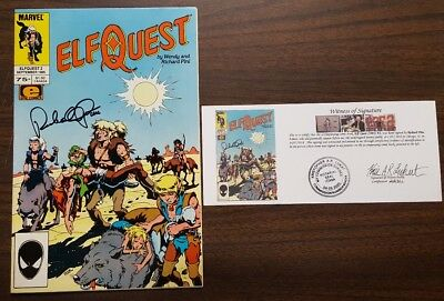 Elf Quest (1985) #2 signed by Richard Pini with Notarized Witness of Signature