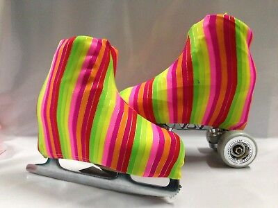 Golden Rainbow  Boot Covers for RollerSkates and Ice Skates  LARGE ONLY