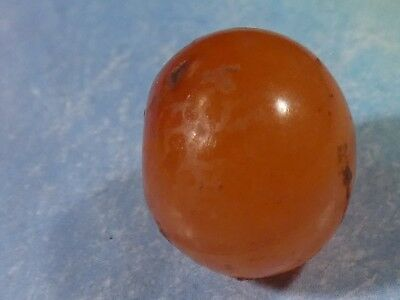 Ancient Indo Tibetan Carnelian/ Agate Bead Surface Calcification Patina 13 By 11