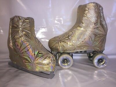 Gold Kelidescope Boot Covers for RollerSkates and Ice Skates  S,M,L