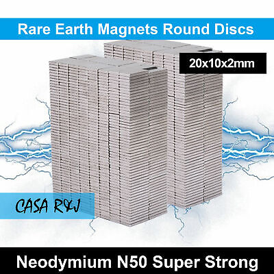 20x10x2mm Rare Earth Strong Magnet Disc Square Cylinder Neodymium N 50