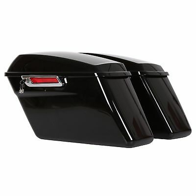 Complete Hard Saddlebags For Harley Touring Road King Electra Glide 14-18 Black