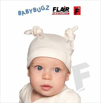 Babybugz Baby Organic Hat,  Friendly New Born Knots Cap Boy Girl Gift