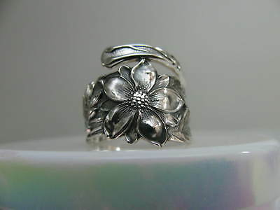 Sterling Silver spoon RING s 7 1/2 COLUMBINE Jewelry Floral Flower # 6259