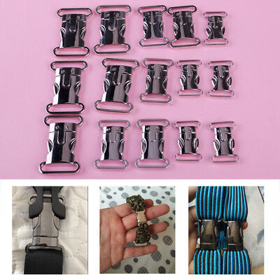 5pcs Side Release Metal Buckles Clips For Bags DIY Buckles Paracord Bracelet NEW