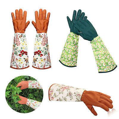 Leather Safety Work Rose Gardening Gloves Women Thorn Proof Pruning Trimming