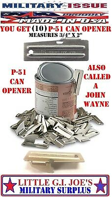 10 NEW P-51 Can Openers John Wayne Mil.Issue P51 Can Openers Shelby Co Army USMC